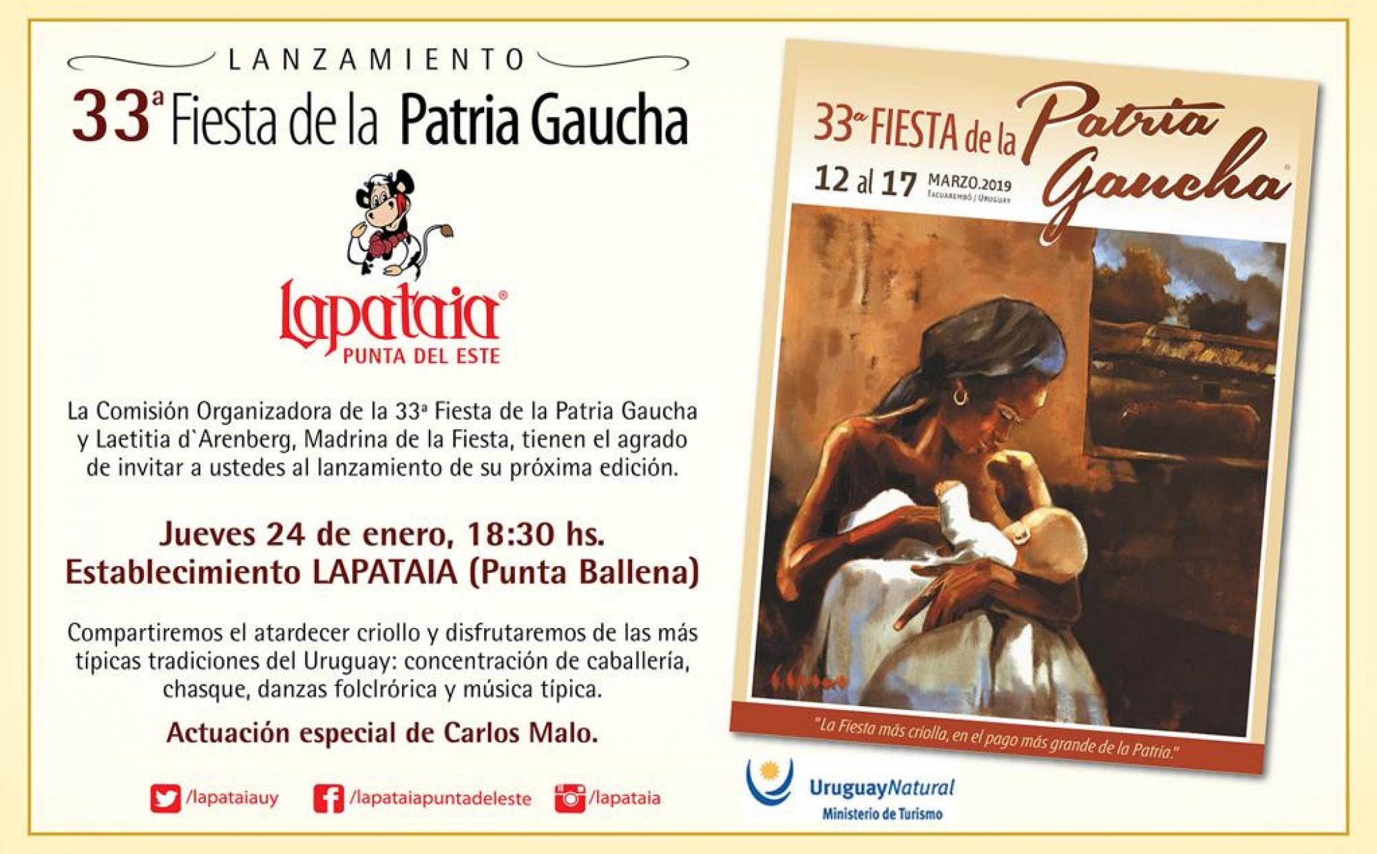 Lanzamiento de la 33a. Fiesta de la Patria Gaucha en Lapataia